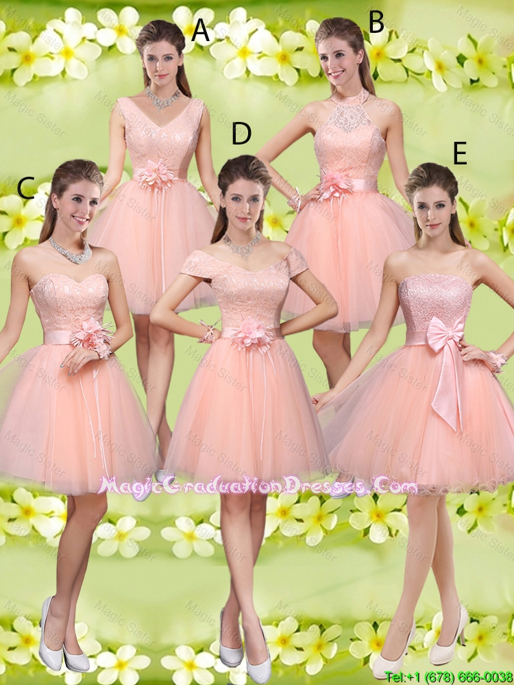 Suitable A Line Hand Made Flowers Graduation Dresses with Appliques
