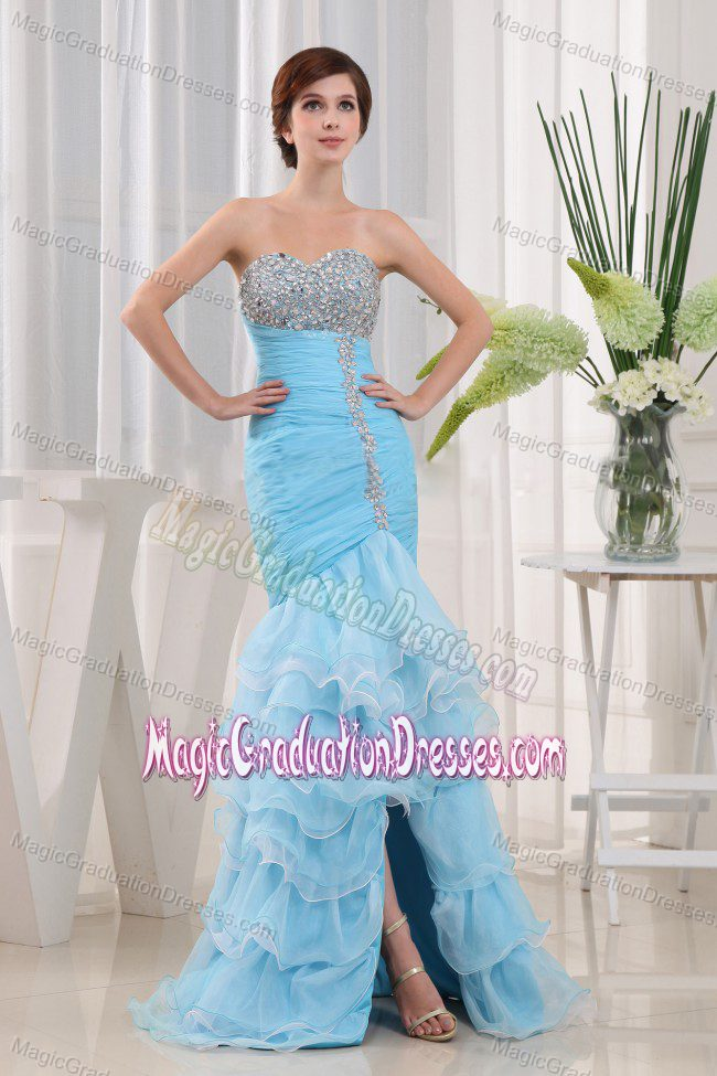 Beaded Decorate Sweetheart Graduation Dress in North Queensferry with Ruffle