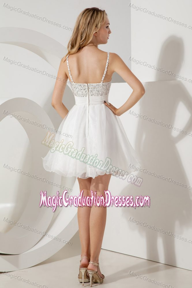 A-line/Princess Straps Graduation Dresses for High School in Banchory with Beads