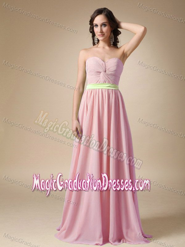 Pink Empire Sweetheart Belt Middle School Graduation Dresses in Grangemouth