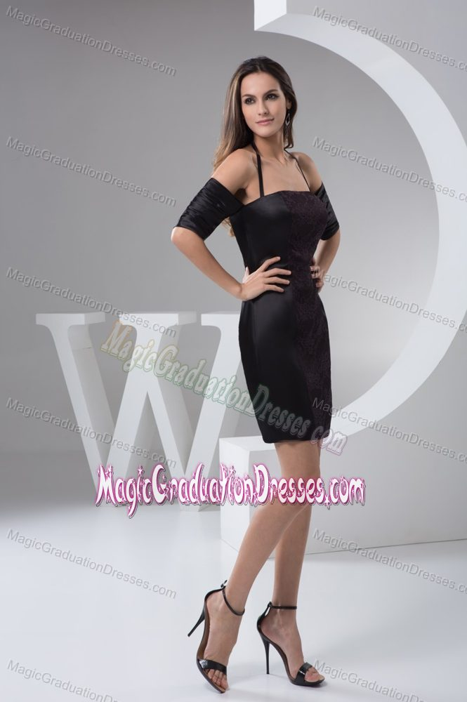 lace halter black 2013 prom graduation dresses in