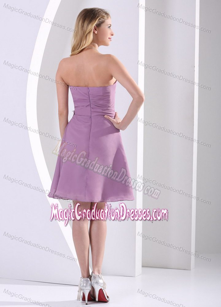 ... Sweetheart Knee-length Graduation Dresses for 8th Grade in Purple
