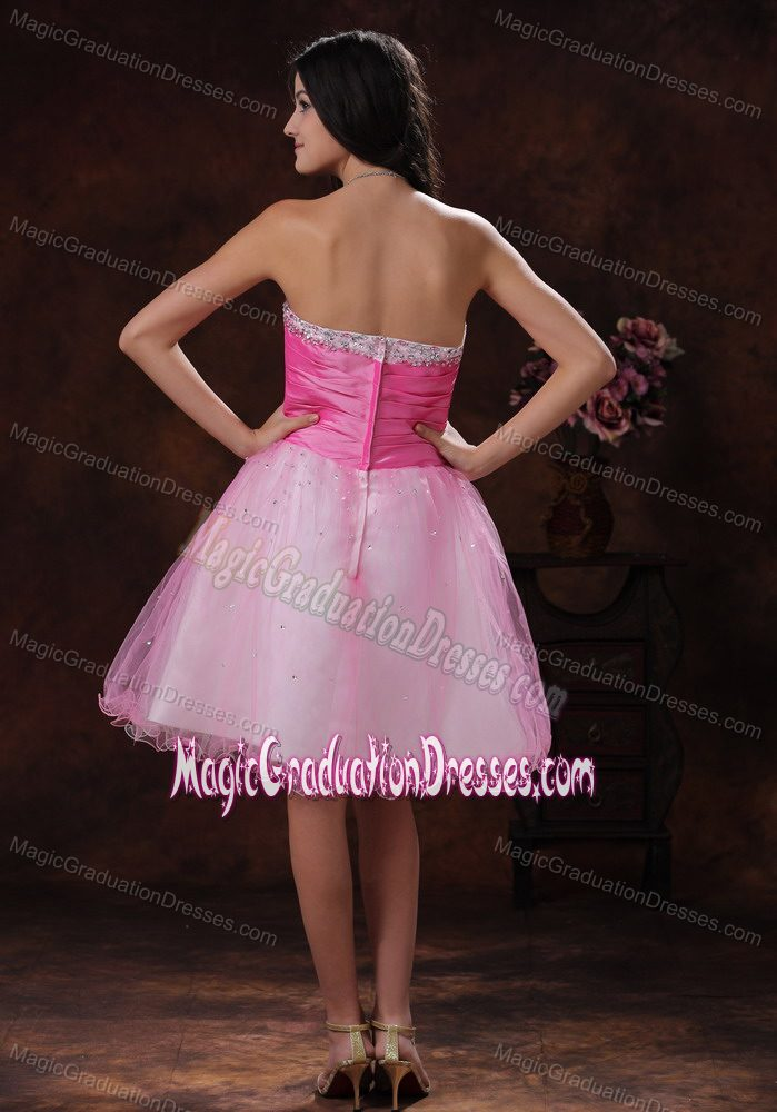 Beading Decorate Sweetheart Short Graduation Dresses for Middle School