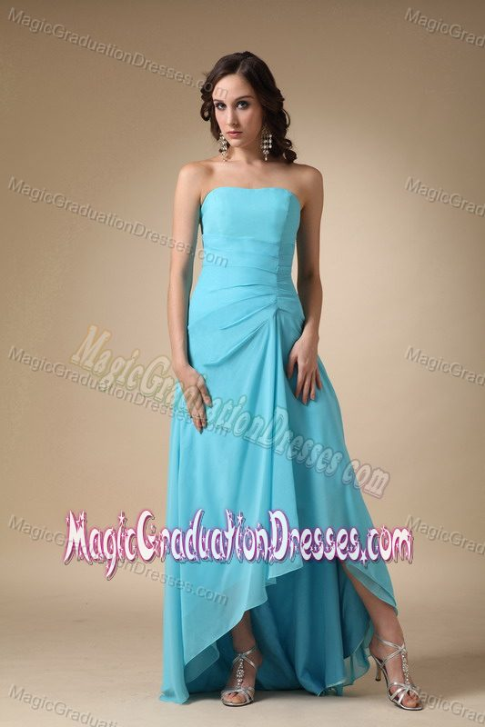 ... Blue Strapless Chiffon Middle School Graduation Dresses in Chicago