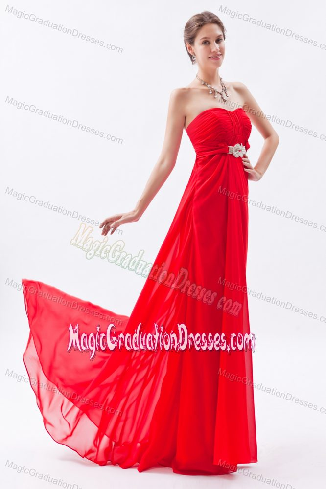 Cool Back Red Long University Graduation Dresses in Wetumpka USA