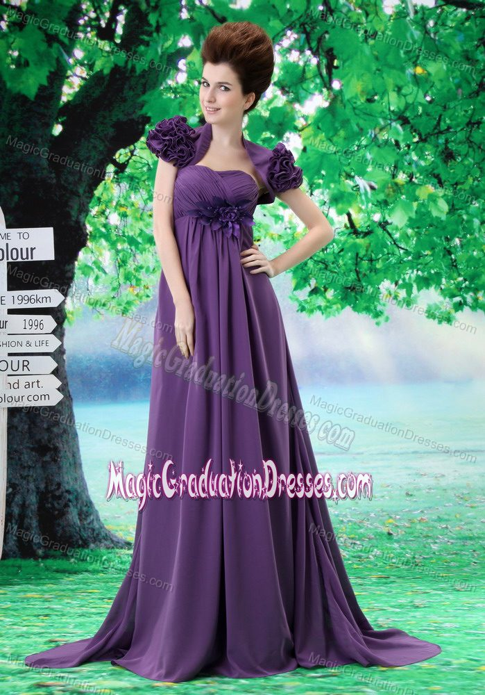 Classic Purple Long Graduation Dresses for 8th Grade with ...