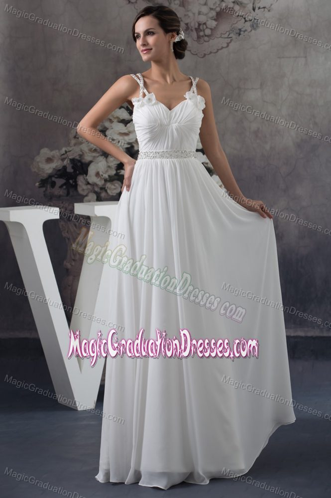 Collection Graduation Dresses White Long Pictures - Reikian