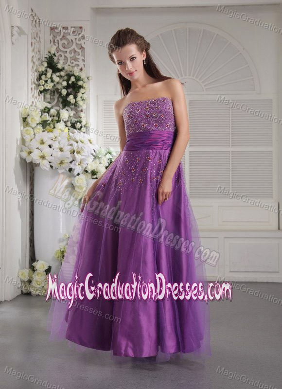 ... Strapless Beaded Floor-length Tulle Grad Prom Dresses in Toowoomba