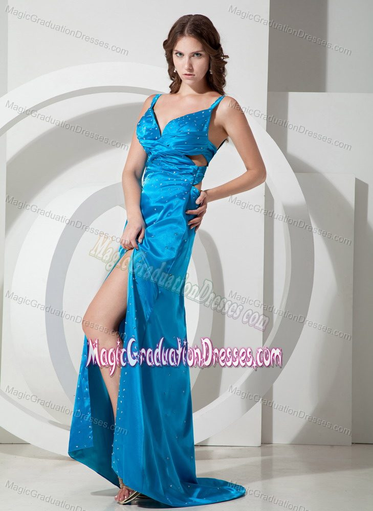 Low Price Sky Blue Graduation Dresses for Girls with Straps in ...