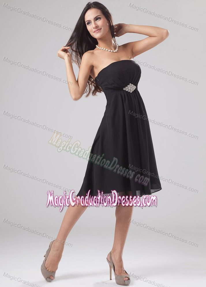 Simple Black Strapless Knee-length - 74.6KB