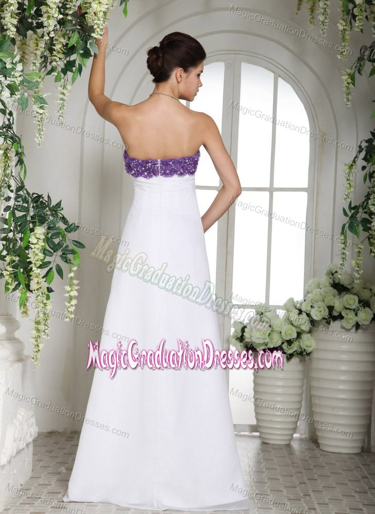White Strapless Floor-length Graduation Dresses for High School in ...
