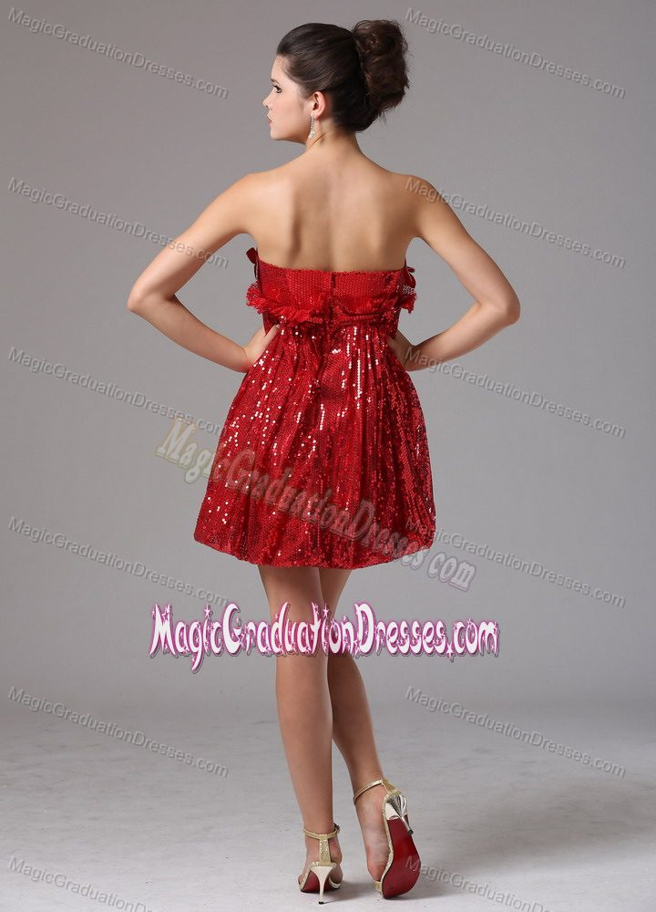 Strapless Short Graduation Dresses for High School in Wine Red with ...