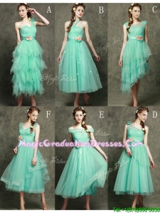 Exclusive Hand Made Flowers Ankle Length Graduation Dress in Apple Green