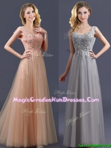 New Arrivals Empire Floor Length Summer Graduation Dress with Appliques