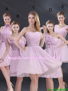 2015 Winter Exquisite Graduation Dress with Ruching