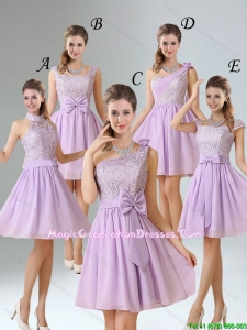 2015 Winter Brand New Style A Line Chiffon Graduation Dress