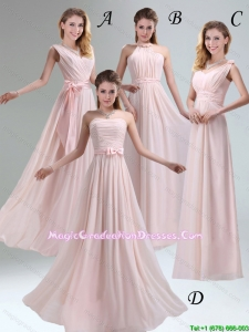 2016 Summer Perfect Chiffon Light Pink Empire Graduation Dress with Ruching