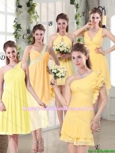 2016 Summer Perfect Fashionable Decorated Graduation Dresses in Chiffon