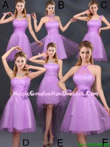 2016 Summer Perfect Lilac A Line Graduation Dresses