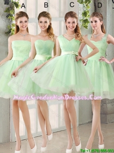 2016 Summer Perfect Ruching Organza A Line Mini Length Graduation Dress with Lace Up