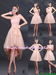 2015 Winter Lace Up Organza Graduation Dress with A Line