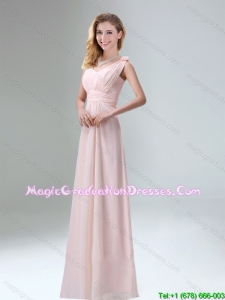 Beautiful Chiffon Graduation Dress in Light Pink for 2015