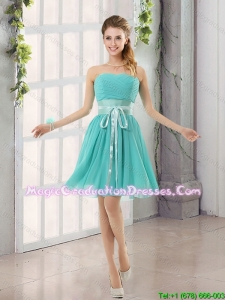 Perfect Belt Ruching Sweetheart A Line Graduation Dress for 2015