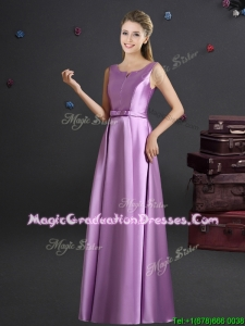 Cheap Straps Lilac Graduation Dress in Elastic Woven Satin