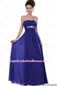 2016 Elegant Strapless Grade Graduation Dresses Dresses in Royal Blue