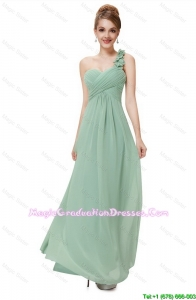 Classical One Shoulder 8th Grade Graduation Dresses with Hand Made Flowers