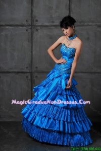 Discount A Line Sweetheart Best Graduation Dresses with Ruffled Layers