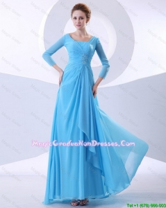 Gorgeous Beading Aqua Blue Graduation Prom Dresses in 2016