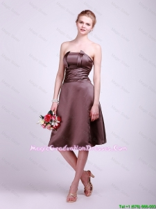 Classical Strapless Short Graduation Dress with Ruching