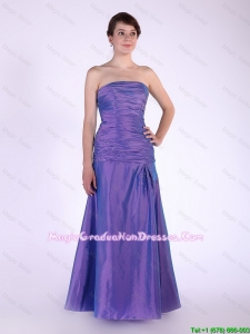 Super Hot Strapless Purple Prom Dresses with Beading
