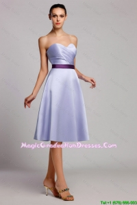 Modern Empire Sweetheart Short Graduation Dresses with Belt for Homecoming