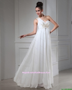 New Style Empire One Shoulder Graduation Dresses with Beading and Sequins