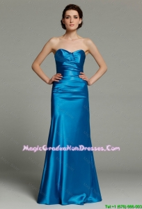 Beautiful Column Sweetheart Teal Party Dresses with Zipper Up