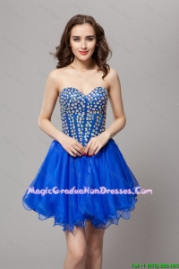 Elegant A Line Lace Up Beaded Party Gowns in Blue