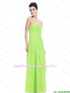 New Arrivals Strapless Beaded Party Dresses in Spring Green