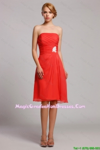 New Style Appliques Short Party Dresses in Orange Red
