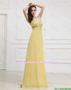 New Style Sequins and Beading Long Graduation Dresses for 2016