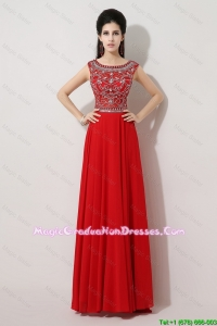 Discount Brush Train Beaded Graduation Dresses with Bateau