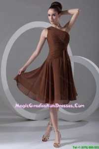Perfect Short One Shoulder Amazing Graduation Dresses with Knee Length
