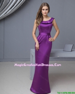 Beautiful Column Scoop Amazing Graduation Dresses with Floor Length