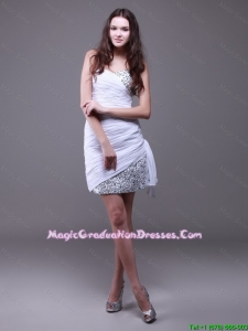 Perfect Sweetheart Sequined Amazing Graduation Dresses with Ruching