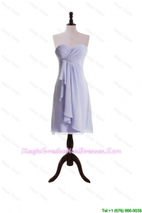 New Style Lavender 2015 Short Discount Graduation Dresses with Ruching and Ruffles