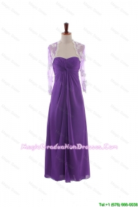 Pretty Empire Strapless Discount Graduation Dresses with Ruching in Eggplant Purple