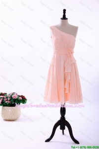 Custom Made Empire Asymmetrical Graduation Dresses with Ruching
