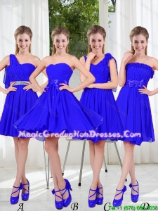 Elegant A Line Sweetheart Graduation Dresses in Royal Blue