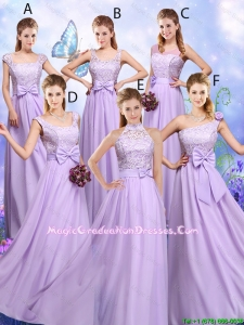 Popular Laced and Bowknot Graduation Dresses with Empire
